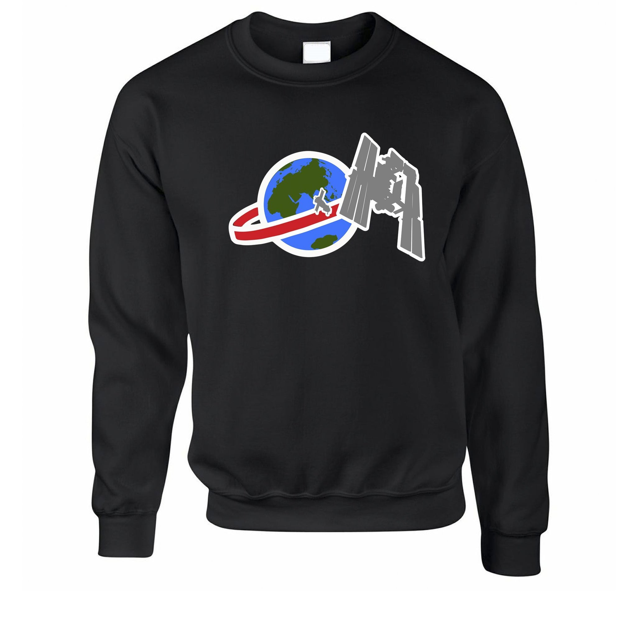 Retro Space Jumper Satellite Over Earth Sweatshirt Sweater