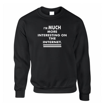 Novelty Jumper I'm More Interesting On The Internet Sweatshirt Sweater
