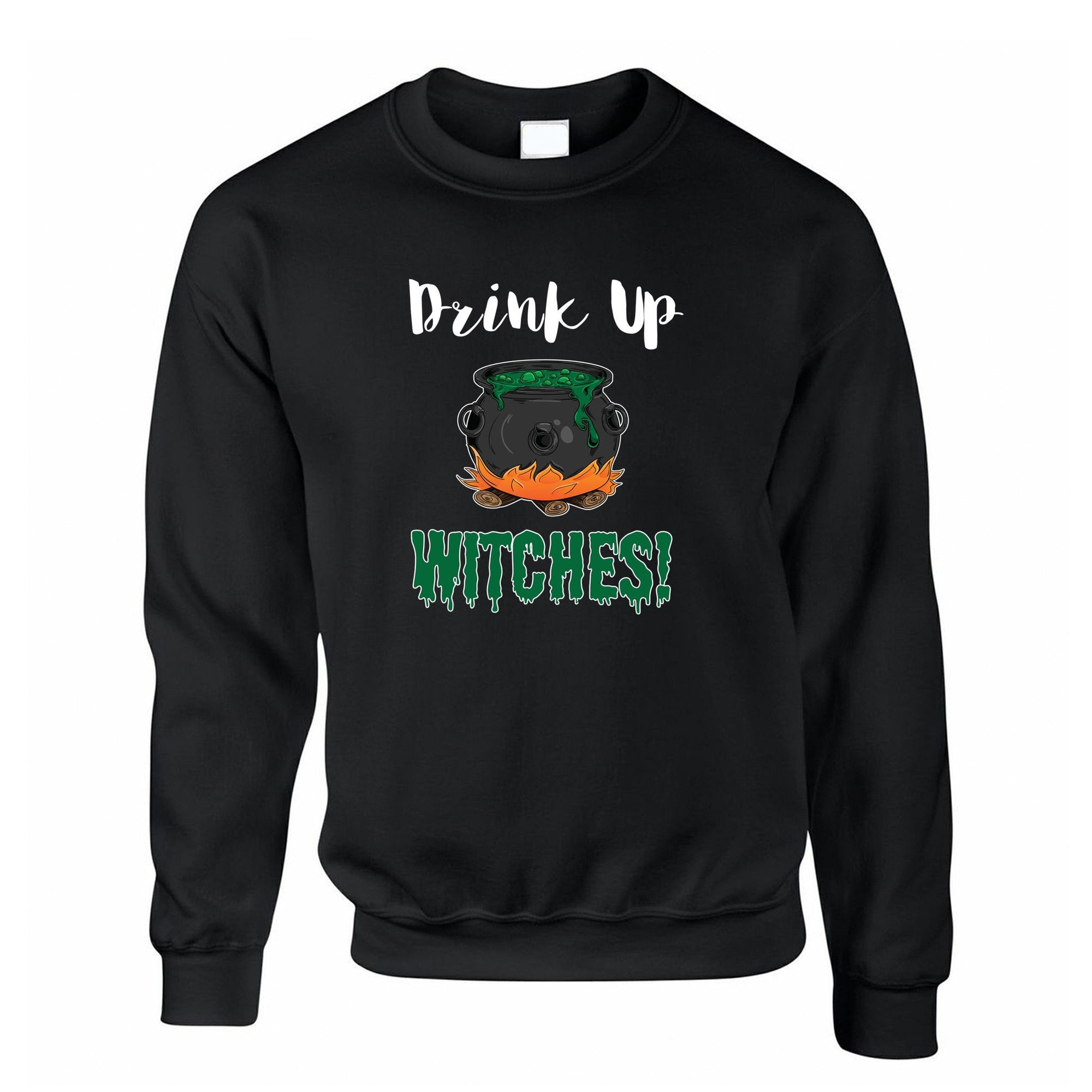 Halloween Jumper Drink Up, Witches Cauldron Sweatshirt Sweater