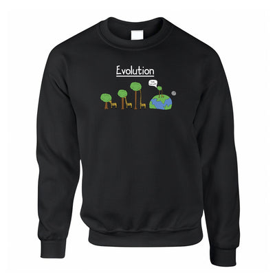 Novelty Jumper Evolution Of A Giraffe And Tree Sweatshirt Sweater
