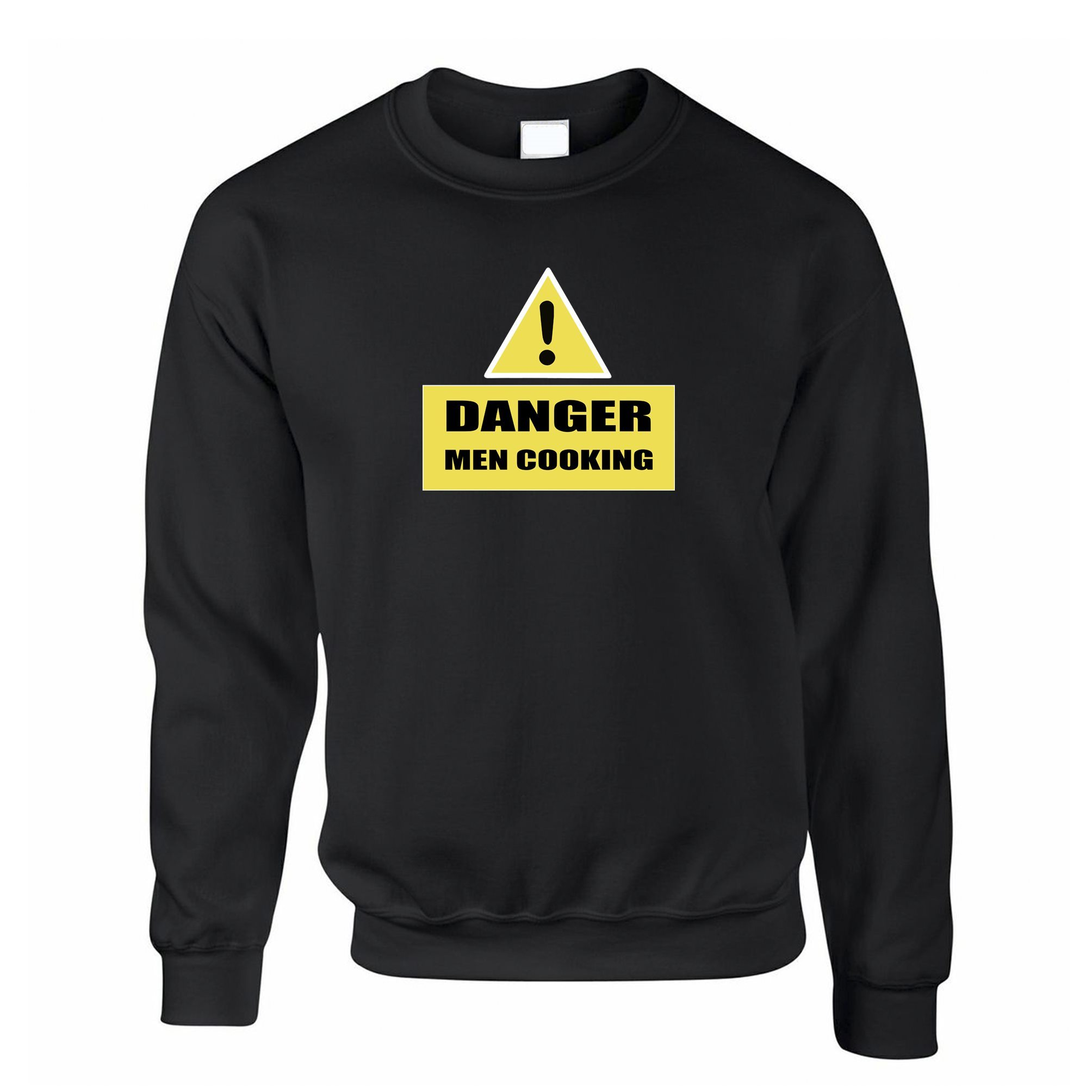 Novelty Barbecue Jumper Danger! Men Cooking Sign Sweatshirt Sweater