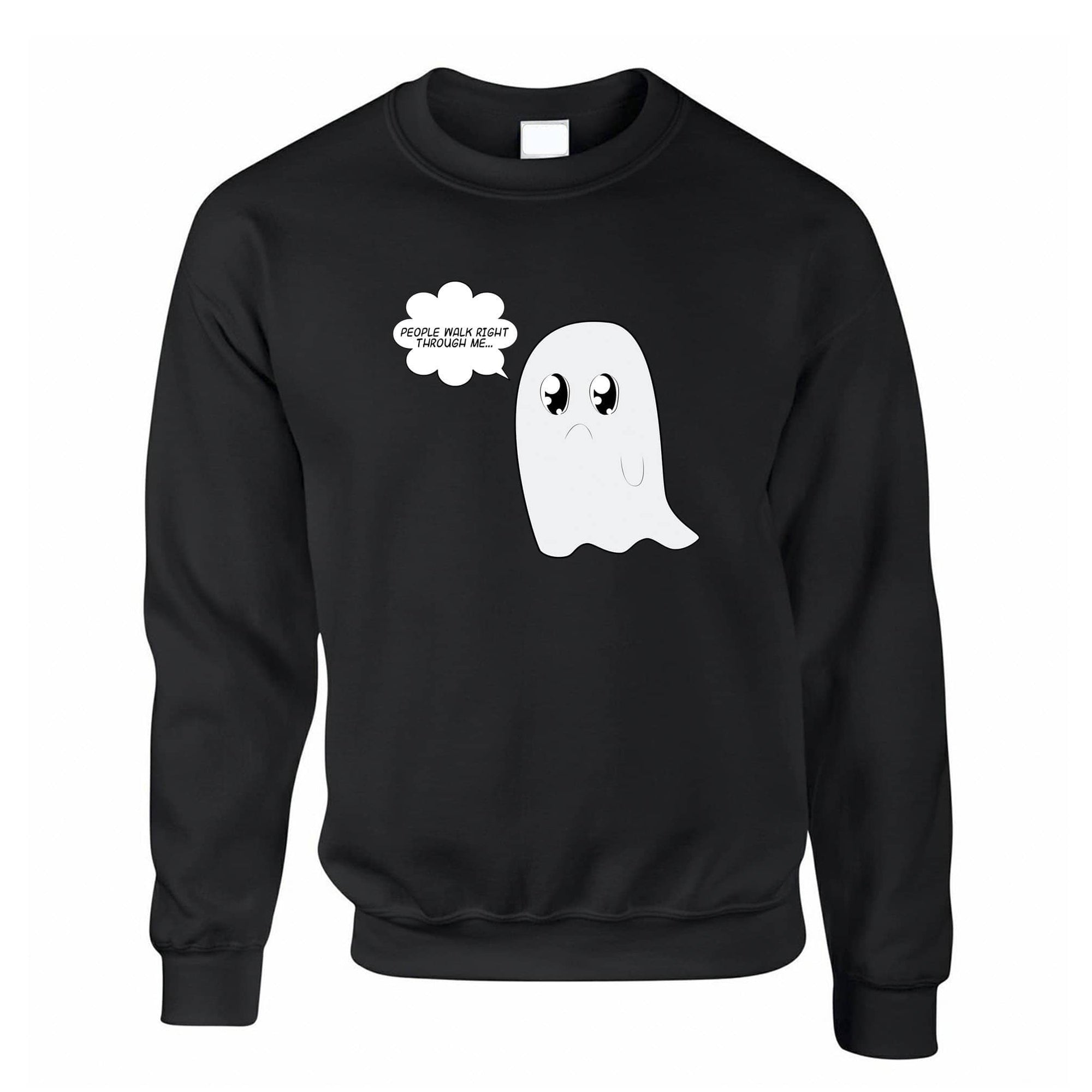 Cute Ghost Jumper People Walk Right Through Me Joke Sweatshirt Sweater