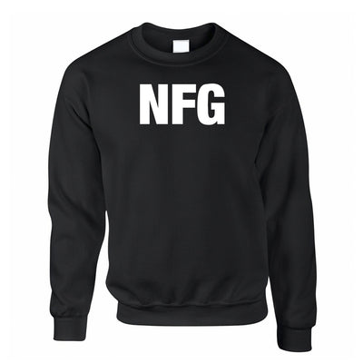 Rude Adult Slogan Jumper NFG No F*cks Given Sweatshirt Sweater