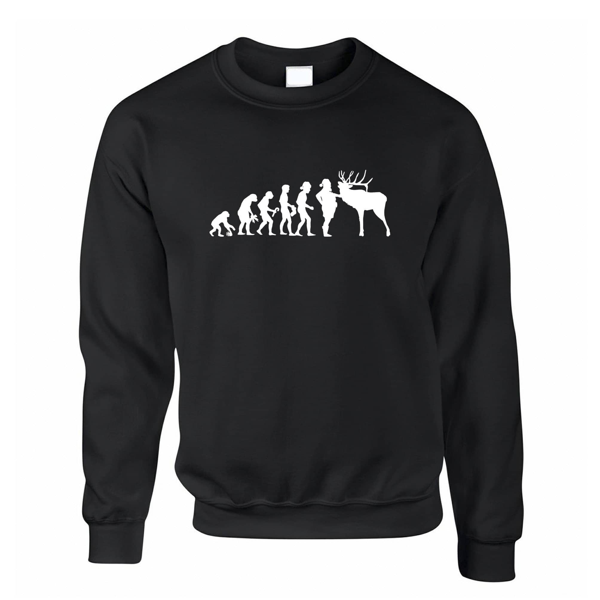Novelty Christmas Jumper Evolution Of Xmas Holiday Sweatshirt Sweater