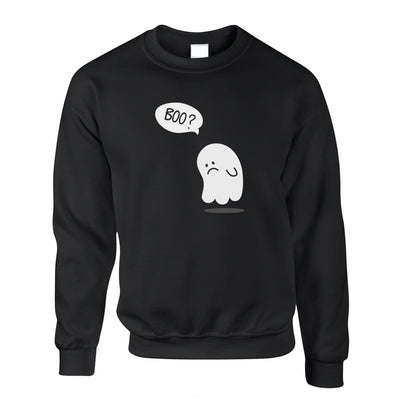 Novelty Halloween Jumper Sad Ghost Joke Sweatshirt Sweater