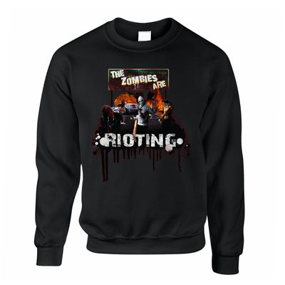 Halloween Jumper The Zombies Are Rioting Art Sweatshirt Sweater