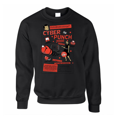 Cyber Punch 2000 Punch Face Over Internet Meme Funny Sweatshirt Jumper