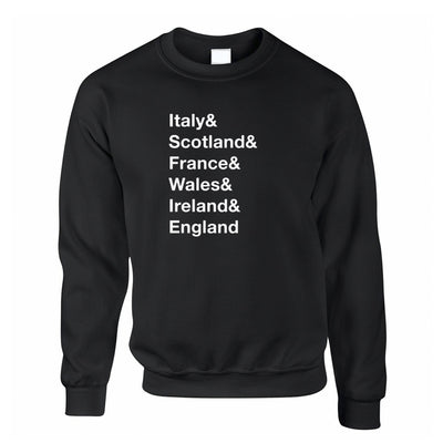 The Six Nations Jumper Italy, Scotland, France Sweatshirt Sweater