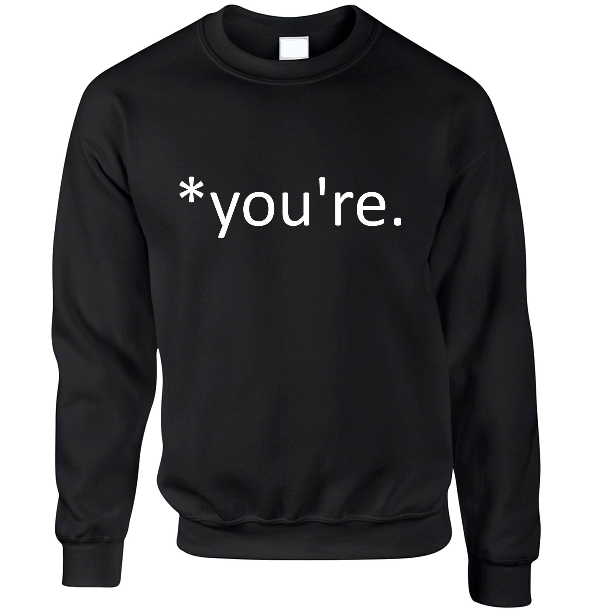 Correction of the Proper 'You're' Funny Jumper Joke Sweatshirt Sweater