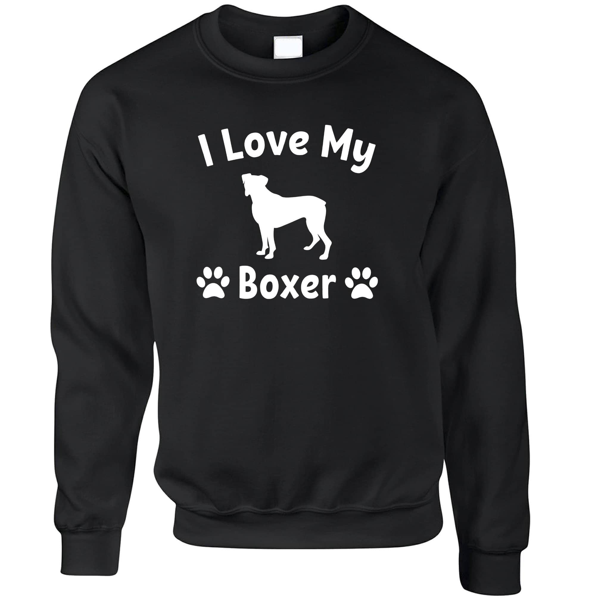 Dog Owner Jumper I Love My Boxer Dog Owner Sweatshirt Sweater