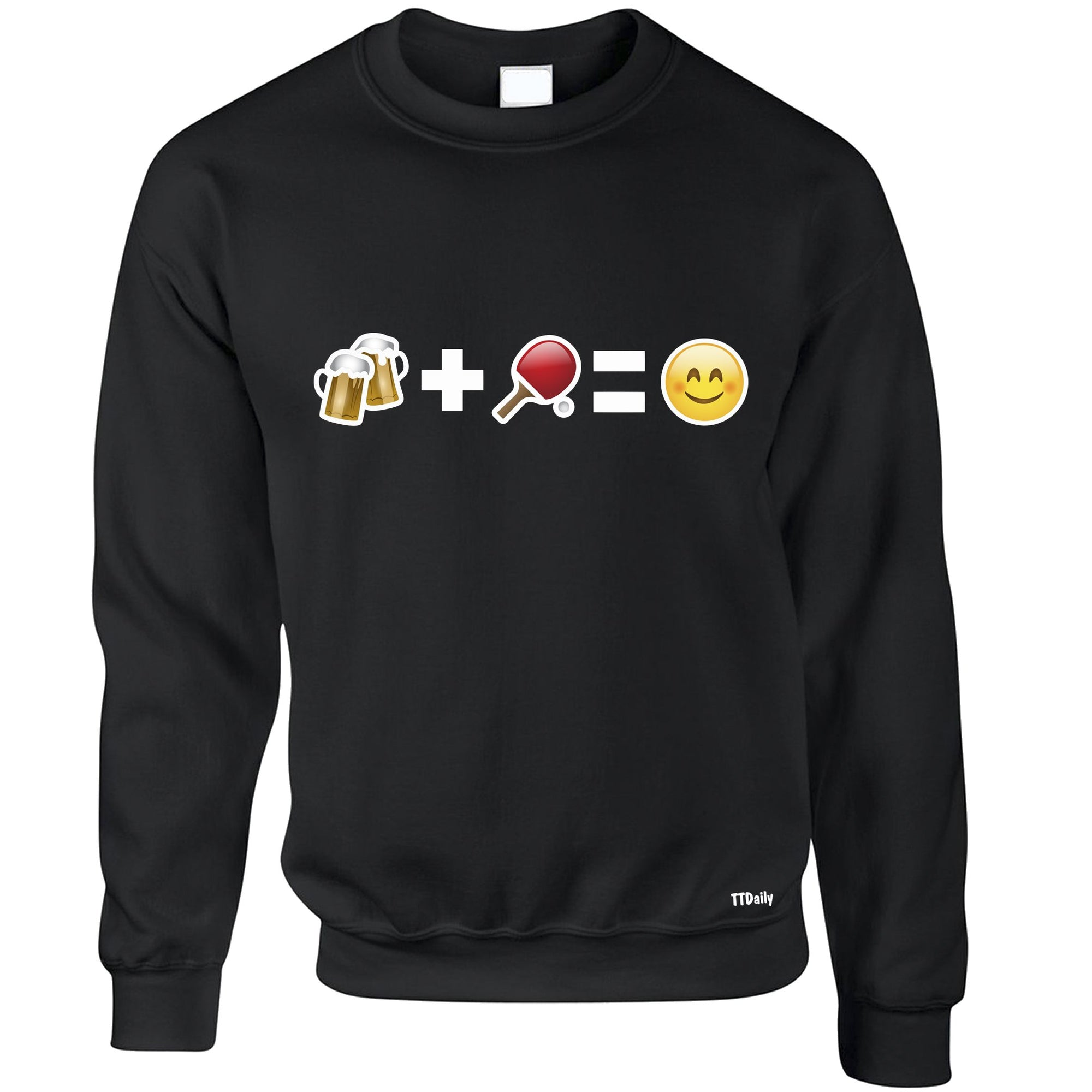 Table Tennis Jumper Beer and Pong Make Me Happy Sweatshirt Sweater