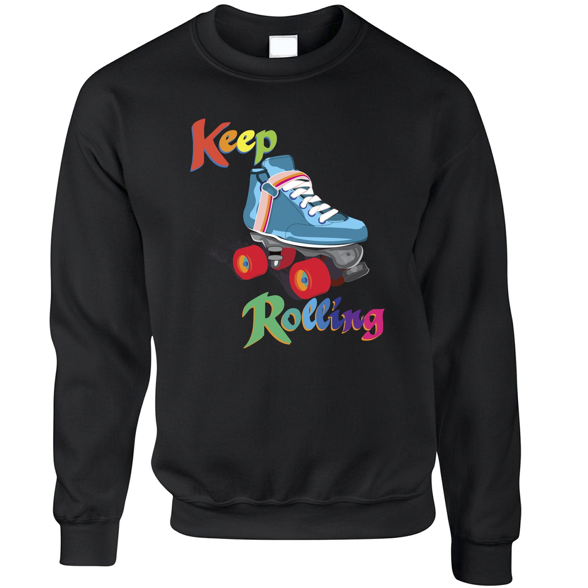 Vintage Skating Jumper Keep On Rolling Pun Joke Sweatshirt Sweater