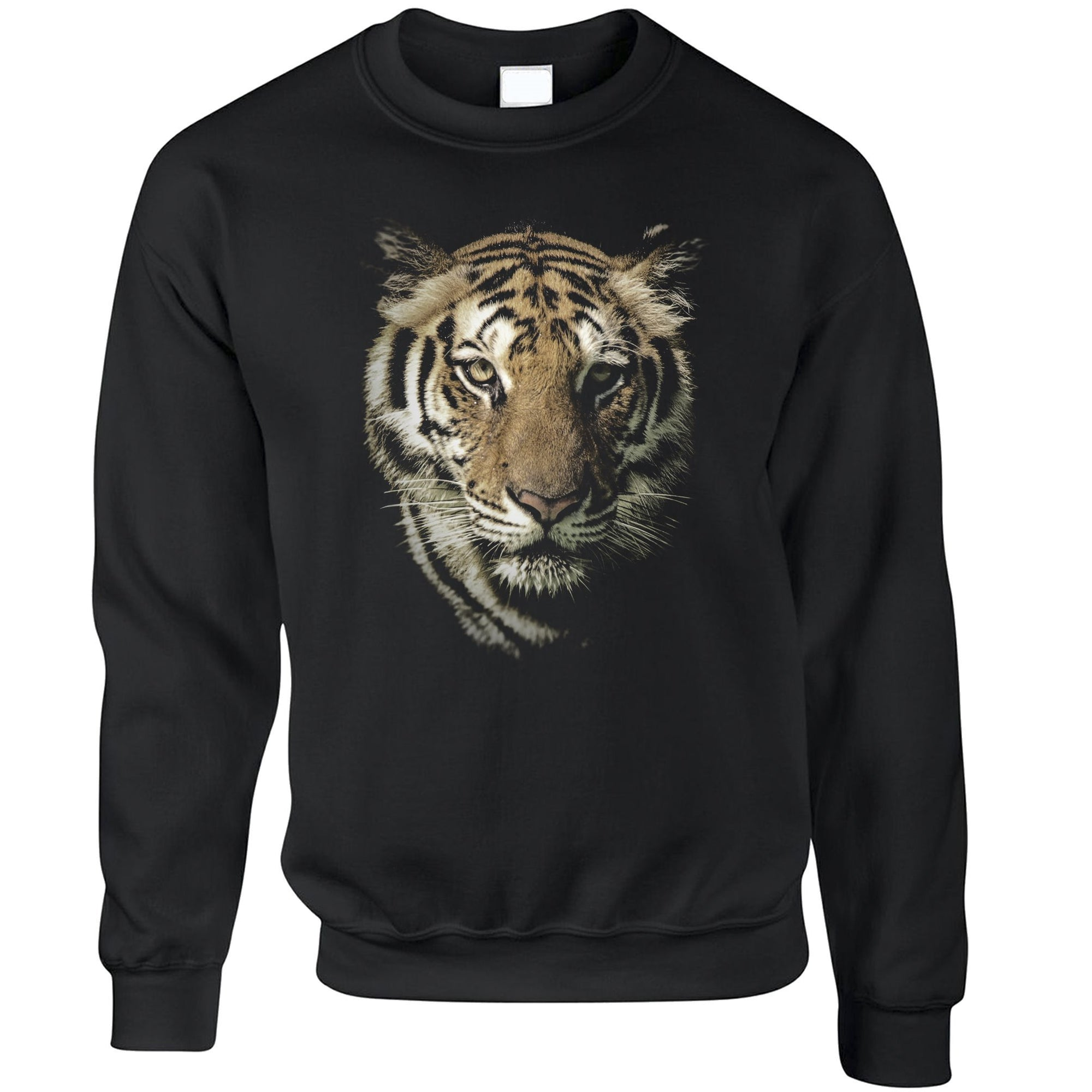 Tiger Face Sweatshirt Majestic Big Cat Head