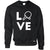 Table Tennis Jumper Love Blade Ping Pong Player Bat & Ball