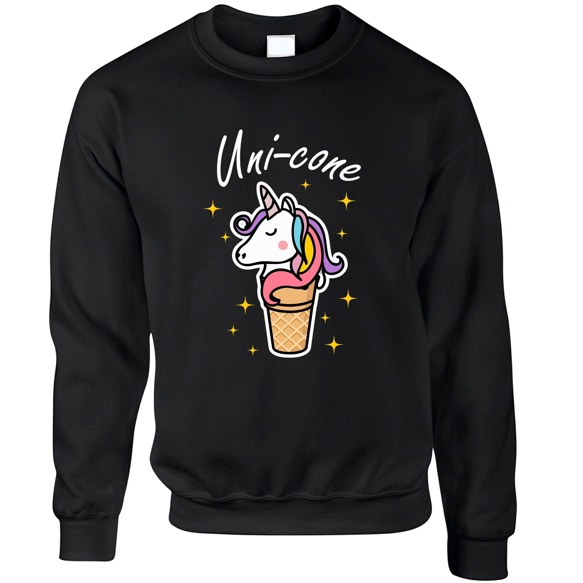 Fantasy Joke Jumper Uni-Cone Ice Cream Unicorn Pun Sweatshirt Sweater