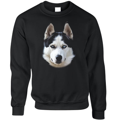 Husky Face Jumper Cute Dogs Head Photo Sweatshirt Sweater