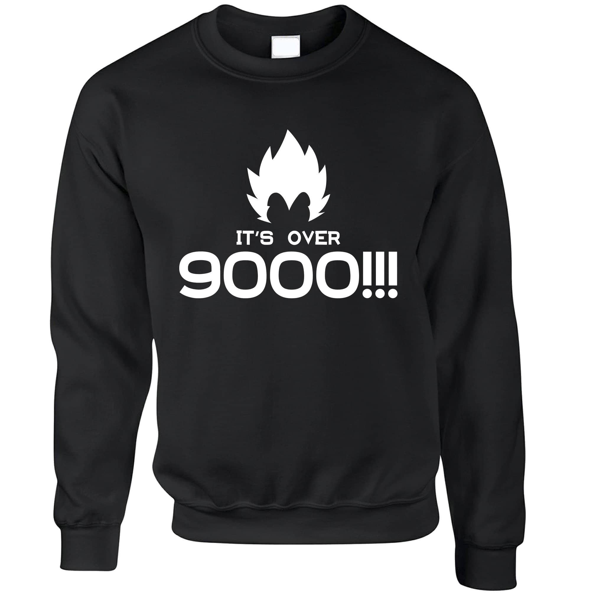 Novelty Anime Parody Jumper It's Over 9000!! Slogan Sweatshirt Sweater