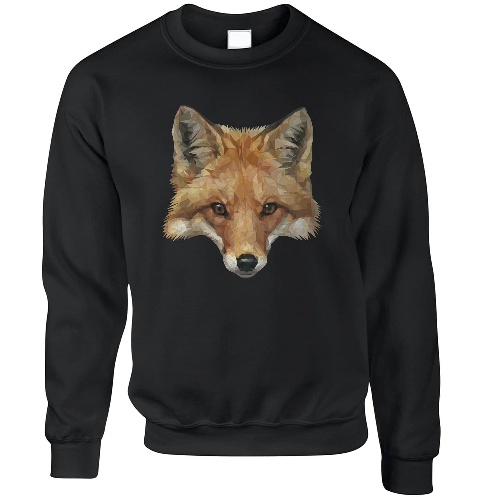 Animal Art Jumper Low Poly Fox Graphic Sweatshirt Sweater