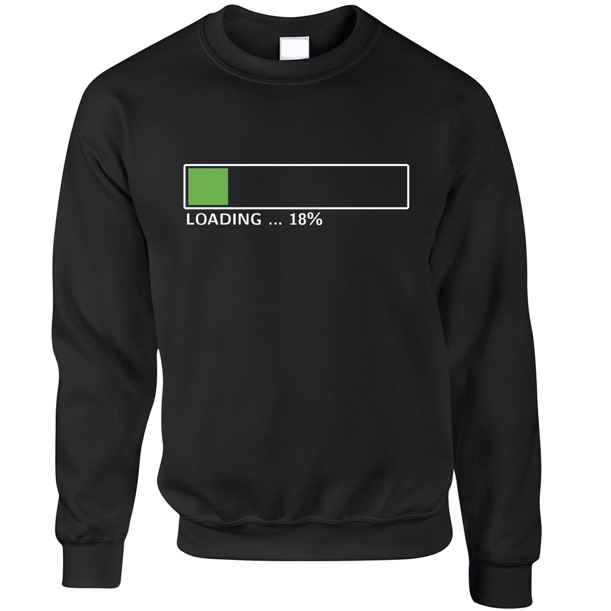 18th Birthday Jumper Loading 18% Complete Eighteen Sweatshirt Sweater