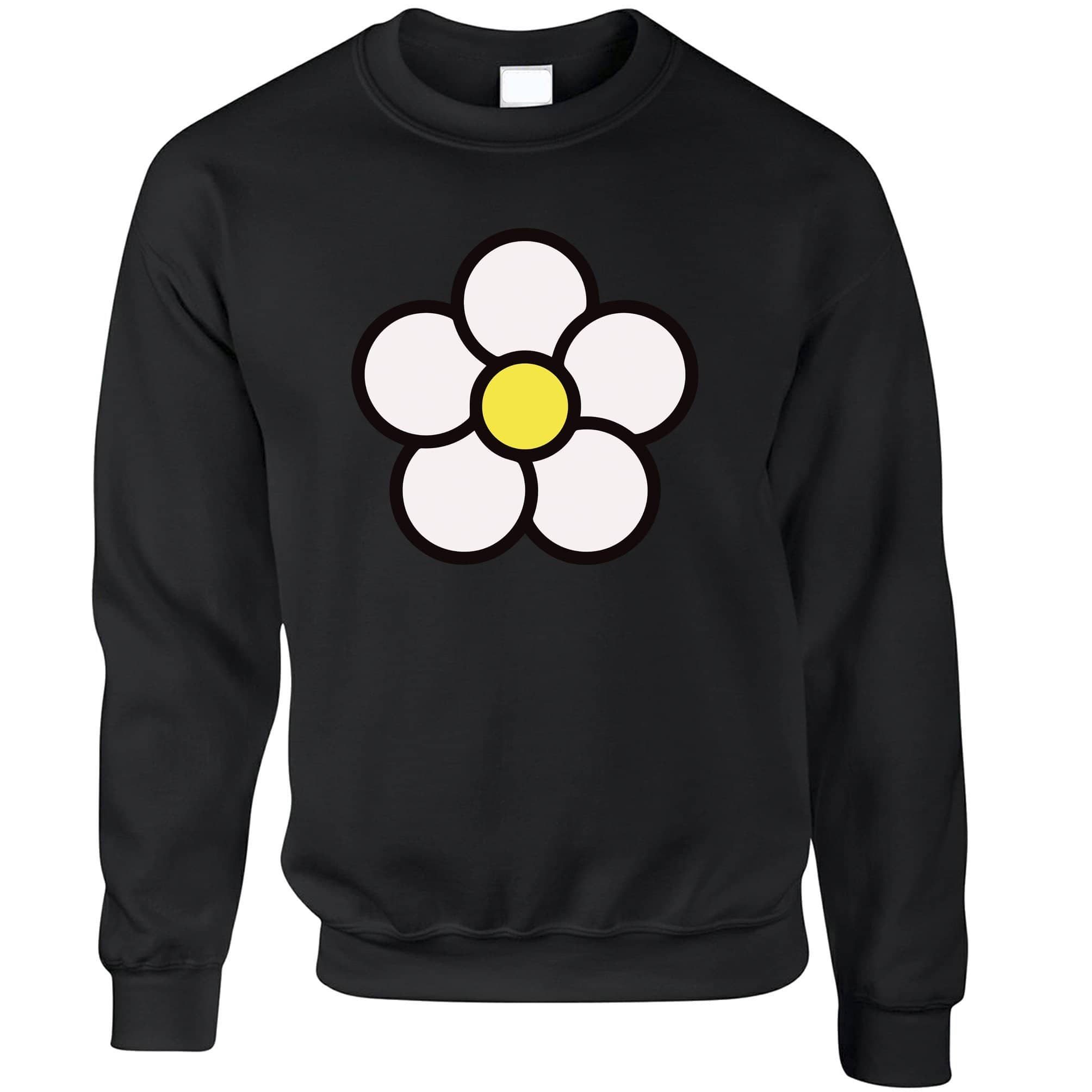 Cute Summer Jumper Floral Single Daisy Sweatshirt Sweater