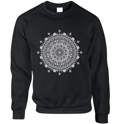 Summer Art Jumper Indian Mandala Pattern Design Sweatshirt Sweater