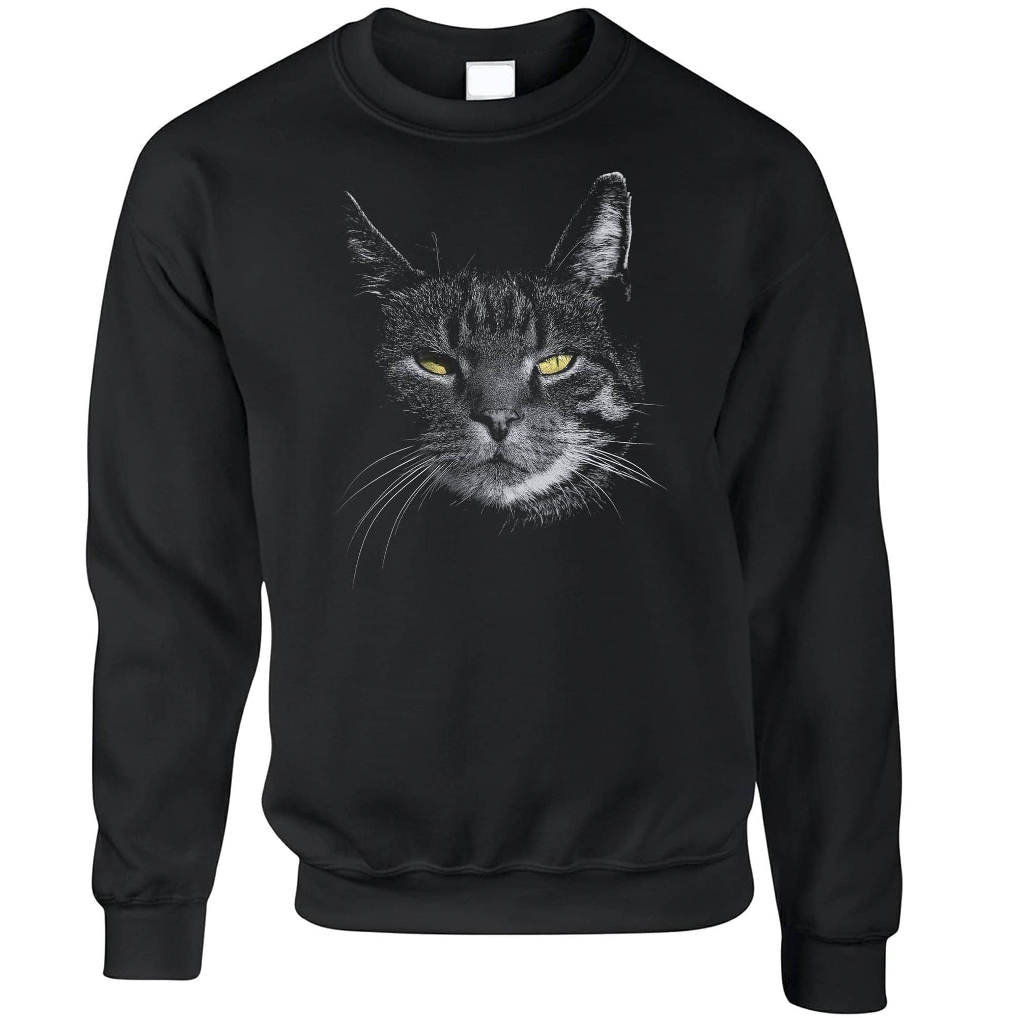 Cat Face Sweatshirt Cute Feline Head Photo