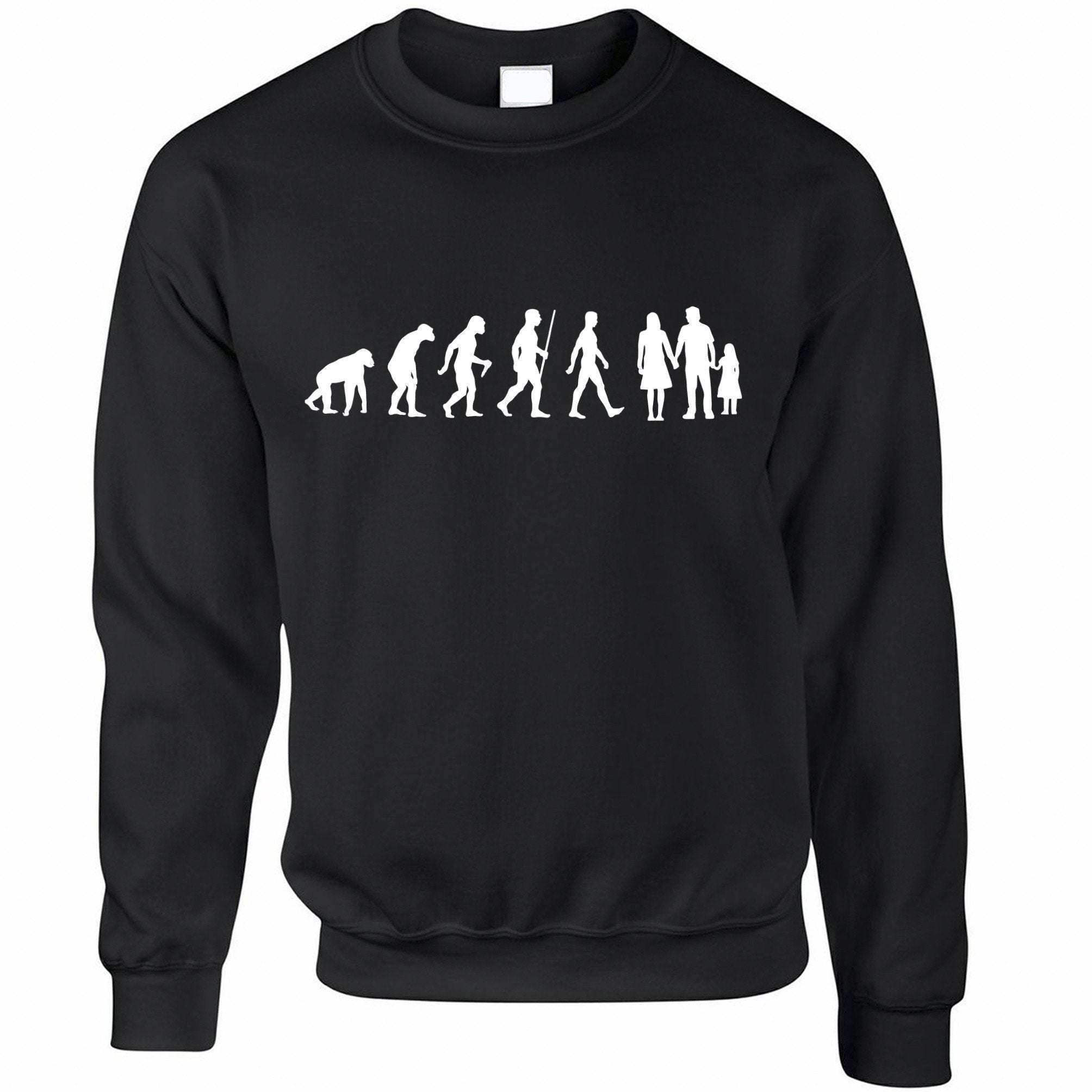 Parenthood Jumper Evolution Of A Family Two Girls Sweatshirt Sweater