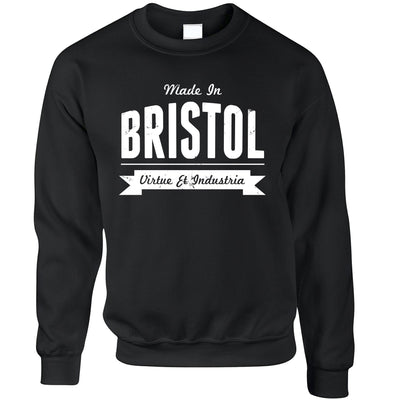 Hometown Pride Jumper Made in Bristol Banner Sweatshirt Sweater