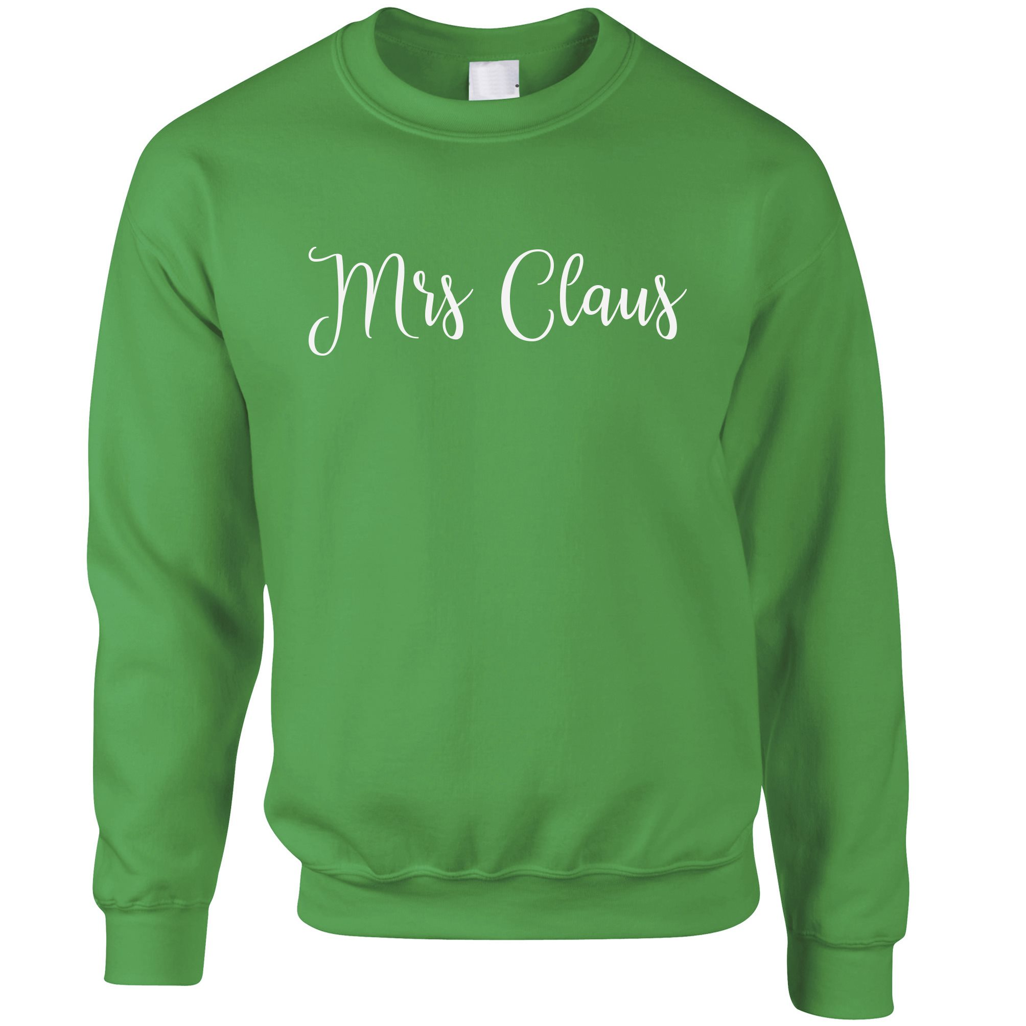 Novelty Christmas Jumper Mrs Claus Slogan Sweatshirt Sweater