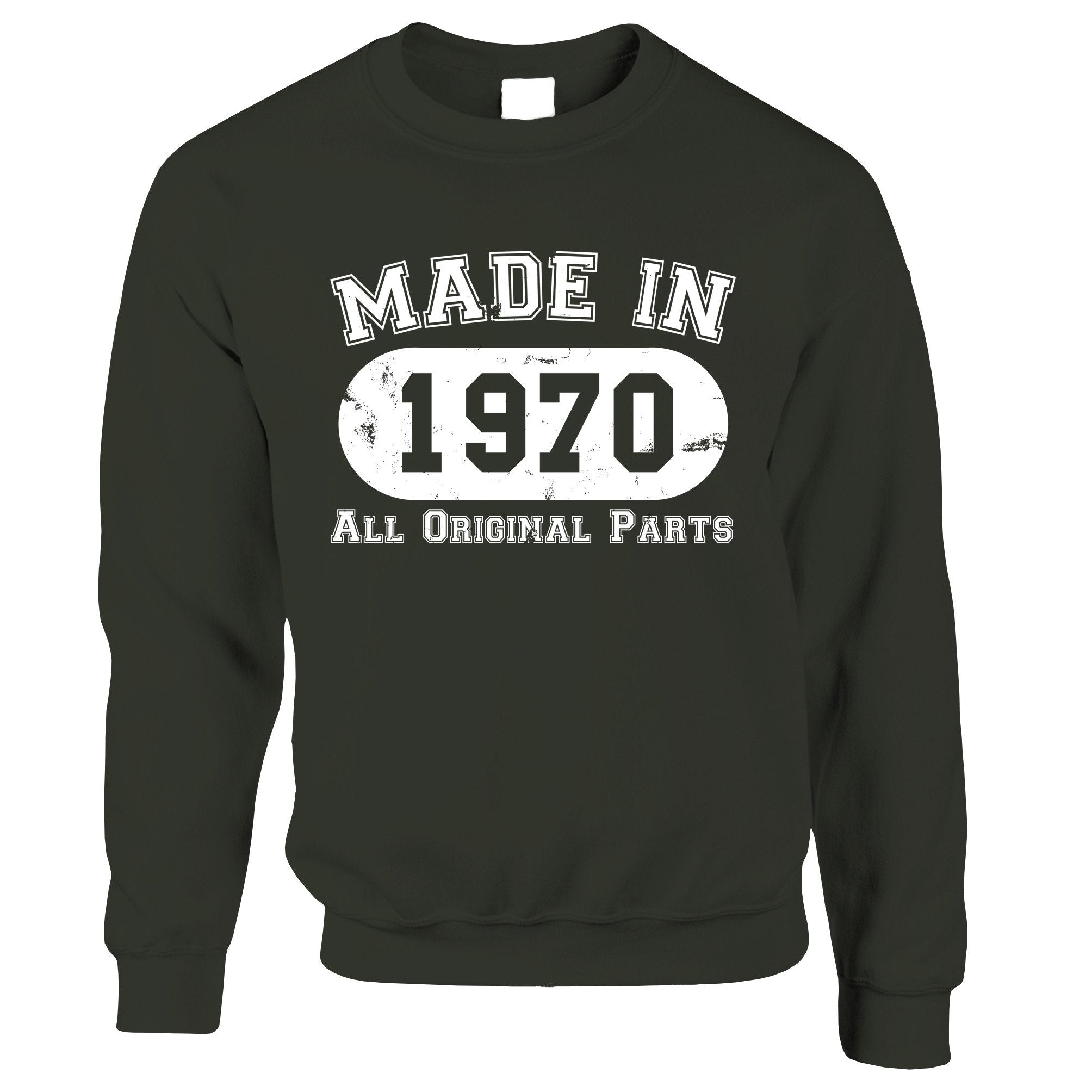 Made in 1970 All Original Parts Sweatshirt Jumper [Distressed]