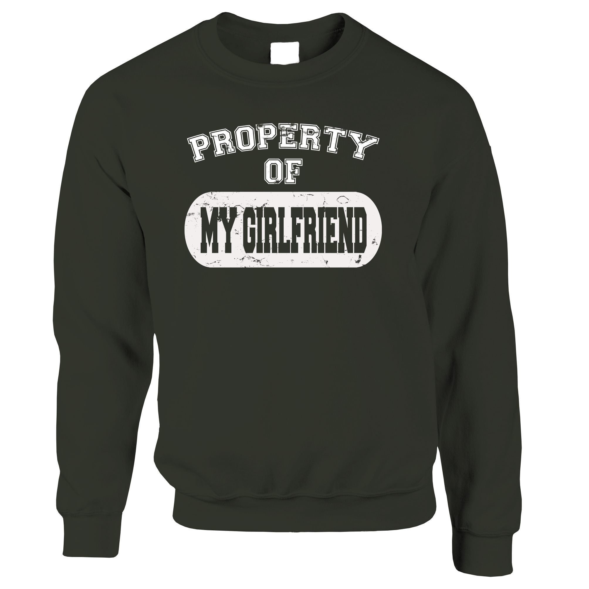 Valentine's Day Jumper Property Of My Girlfriend Sweatshirt Sweater