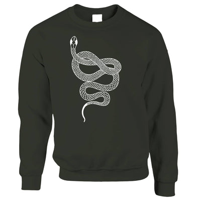 Animal Art Jumper Illustrated Snake Tattoo Graphic Sweatshirt Sweater