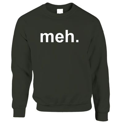Novelty Jumper With Just The Word Meh. Sweatshirt Sweater