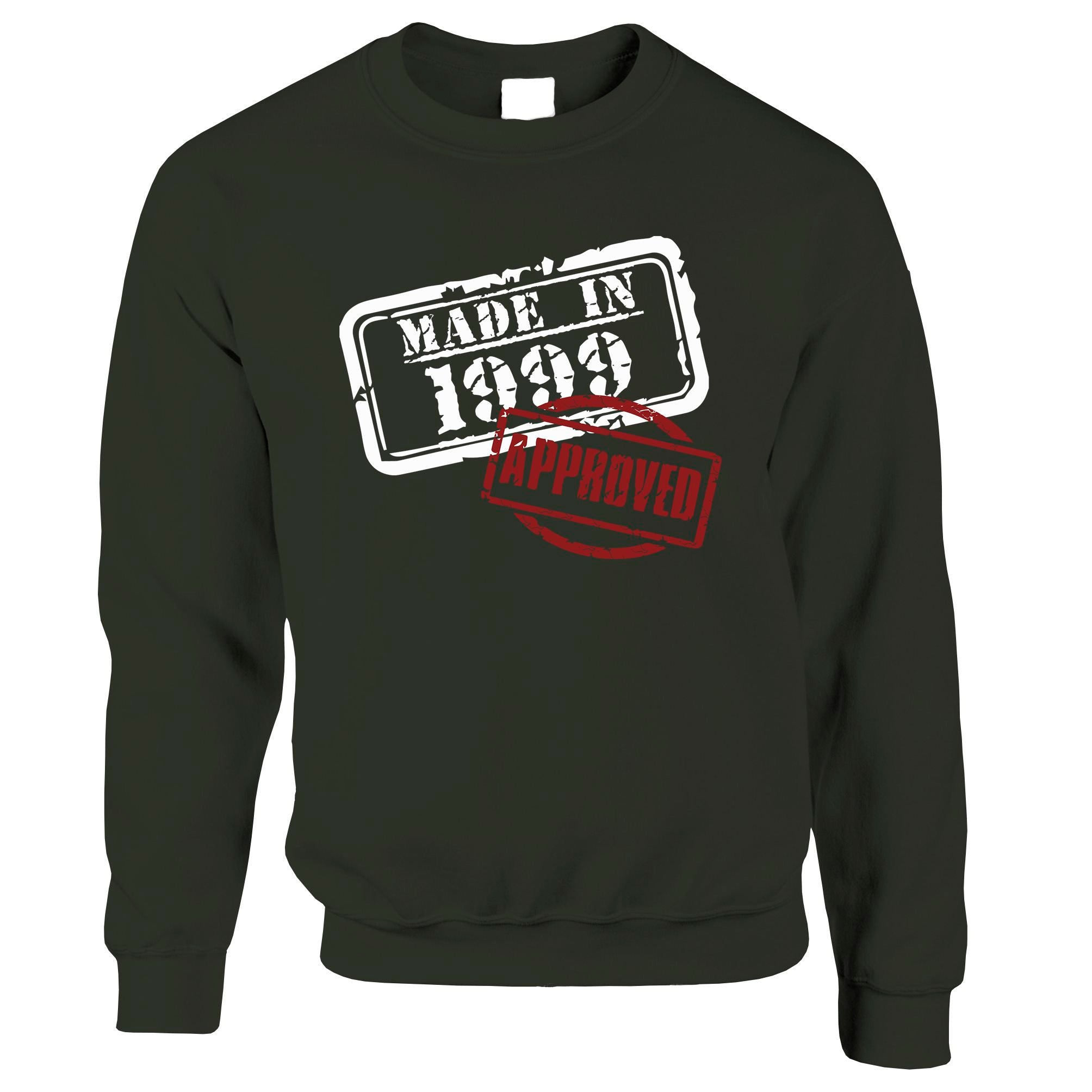 21st Birthday Jumper Distressed Made in 1999 Approved Sweatshirt