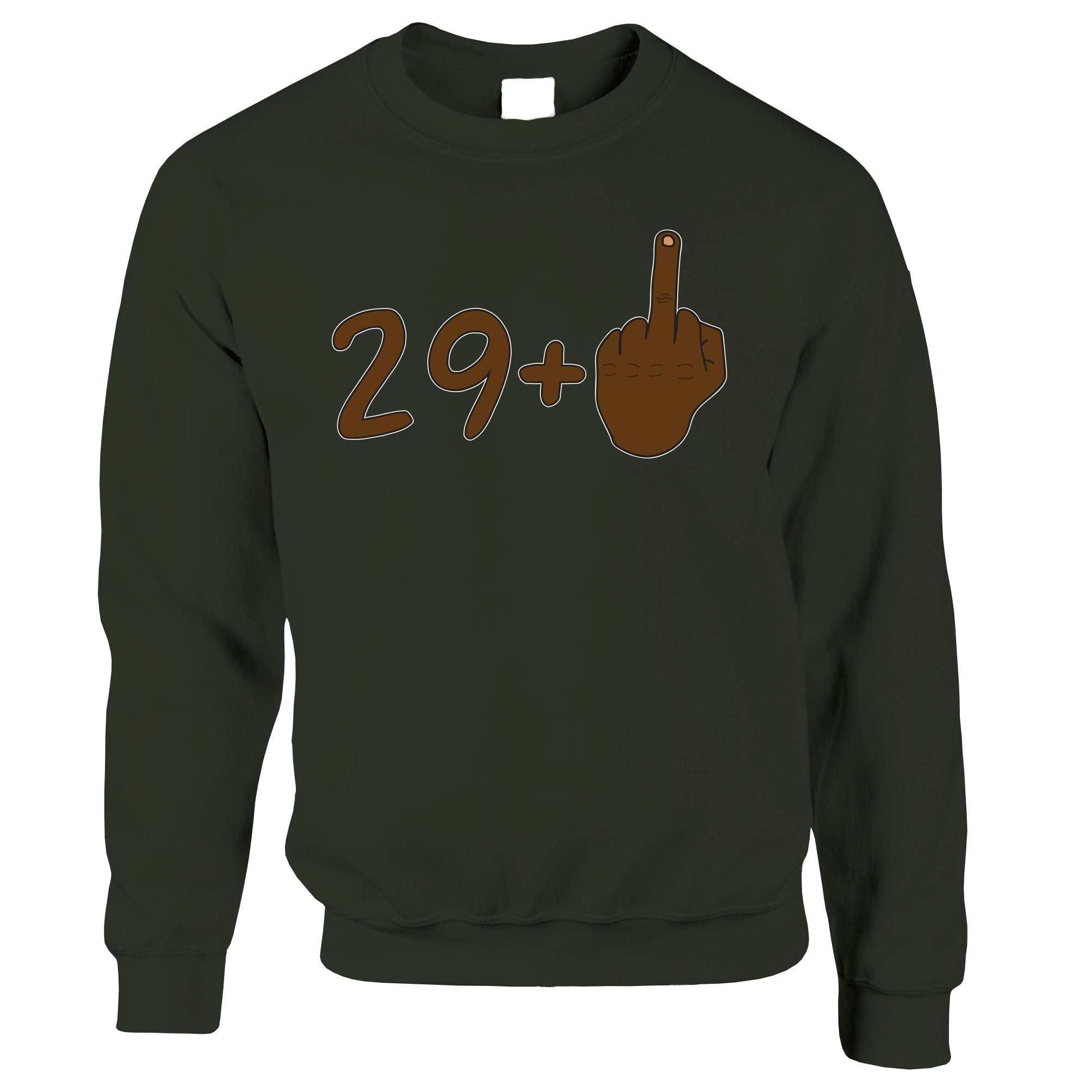 Rude 30th Birthday Jumper Black Middle Finger Sweatshirt Sweater