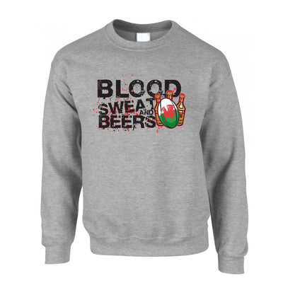 Wales Rugby Supporters Jumper Blood, Sweat And Beers Sweatshirt Sweater