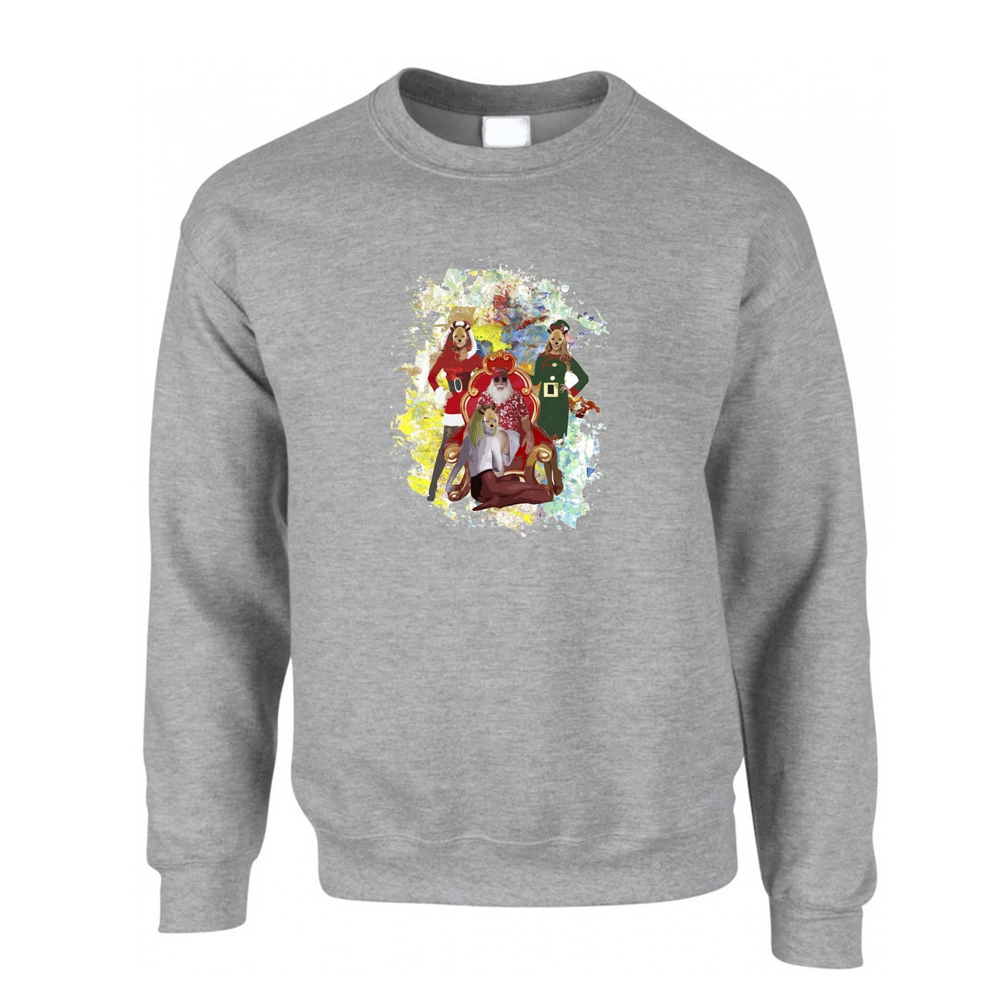 Father Christmas Jumper Santa And His Ho Hoe Hoes Sweatshirt Sweater