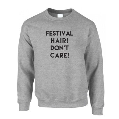 Novelty Jumper Festival Hair, Don't Care Slogan Sweatshirt Sweater