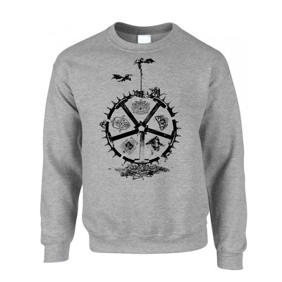 TV Parody Jumper Wheel Of Houses Logo Sweatshirt Sweater