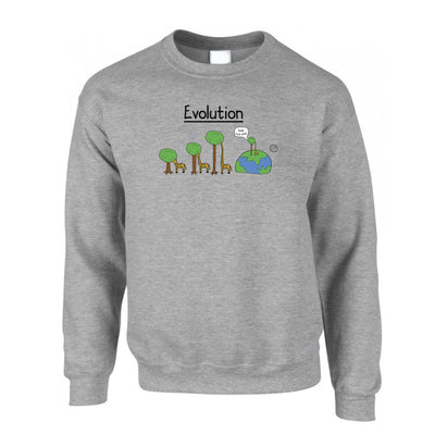 Funny Sweatshirt Jumper Evolution Of A Giraffe And Tree