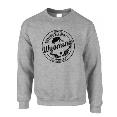 Hometown Pride Jumper Made in Wyoming Stamp Sweatshirt Sweater