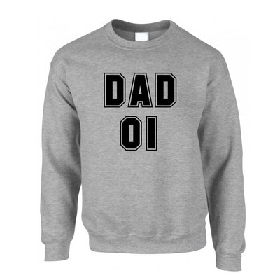 Father's Day Jumper Dad, 01 Number One Slogan Sweatshirt Sweater