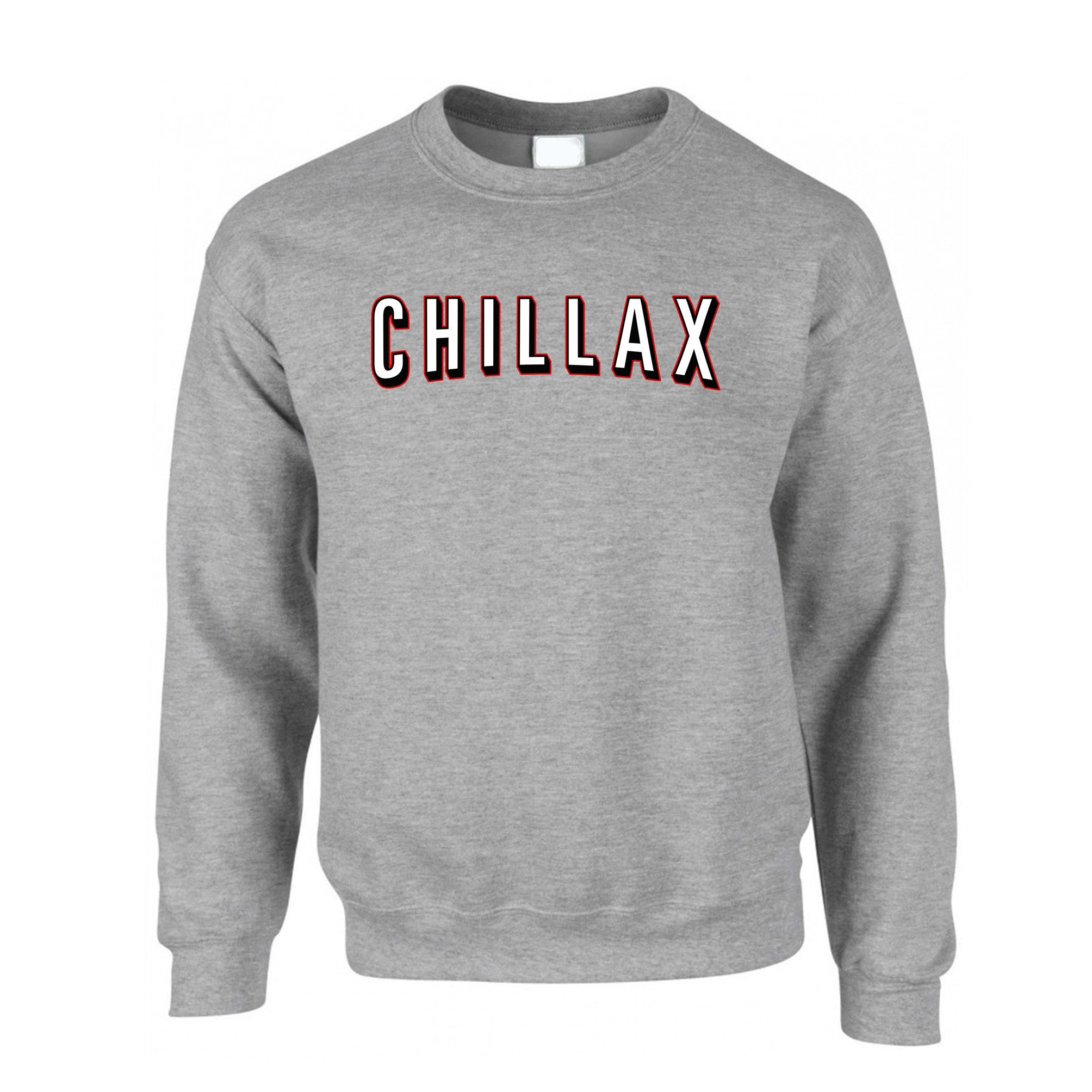 TV And Chill Jumper Chillax Stylised Text Slogan Sweatshirt Sweater