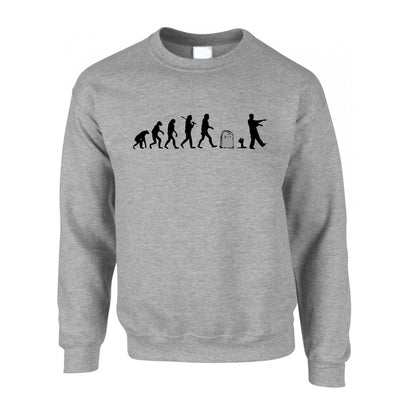 Halloween Jumper Evolution Of A Zombie Sweatshirt Sweater