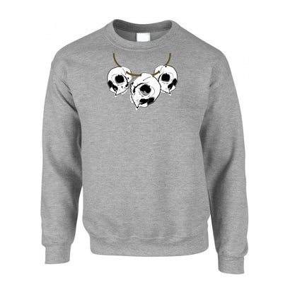 Voodoo Jumper Three Skull Necklace Tribal Art Sweatshirt Sweater