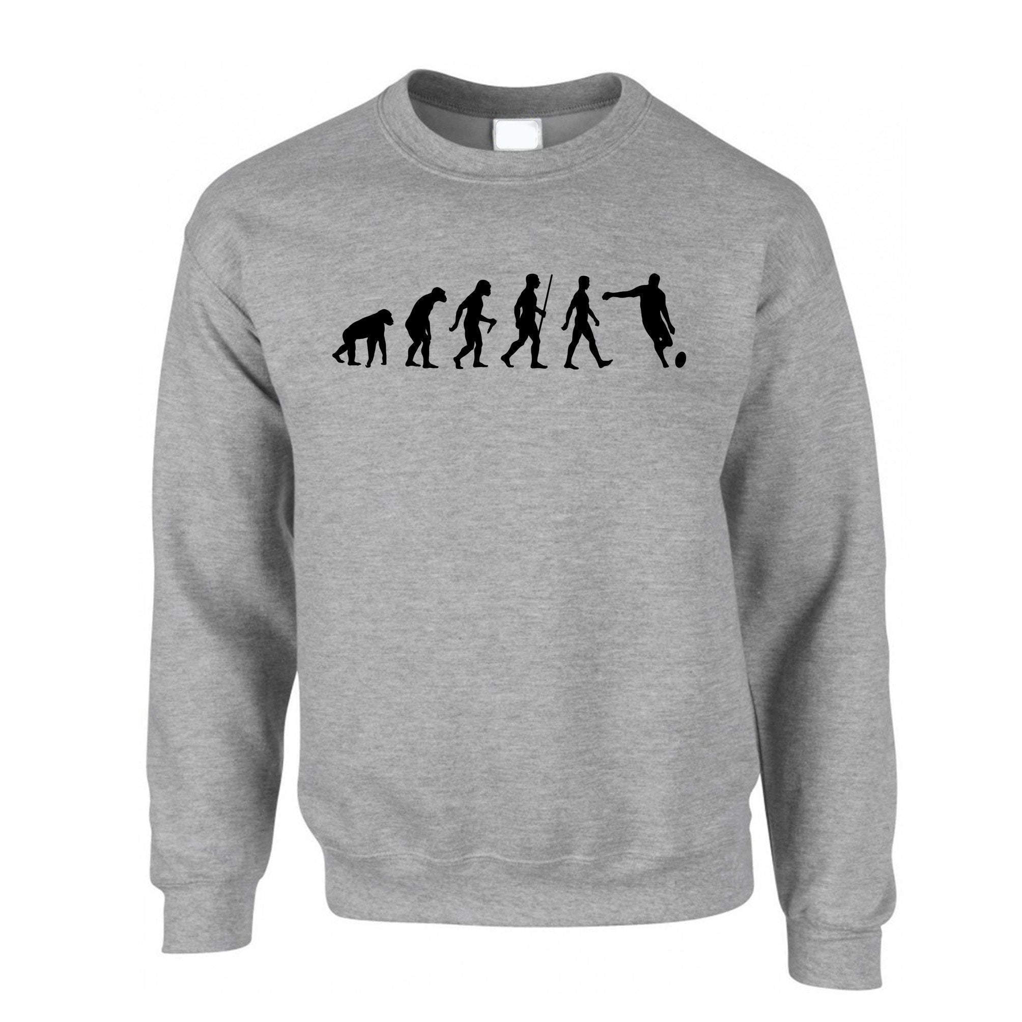 Sports Jumper Evolution Of A Rugby Ball Kick Sweatshirt Sweater
