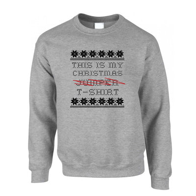 This Is My Christmas Sweatshirt Jumper Xmas Ugly Sweater Pattern