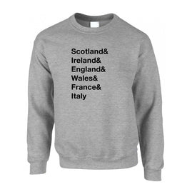 The Six Nations Sweatshirt Jumper Scotland, Ireland, England