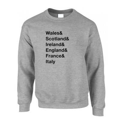 The Six Nations Jumper Wales, Scotland, Ireland Sweatshirt Sweater