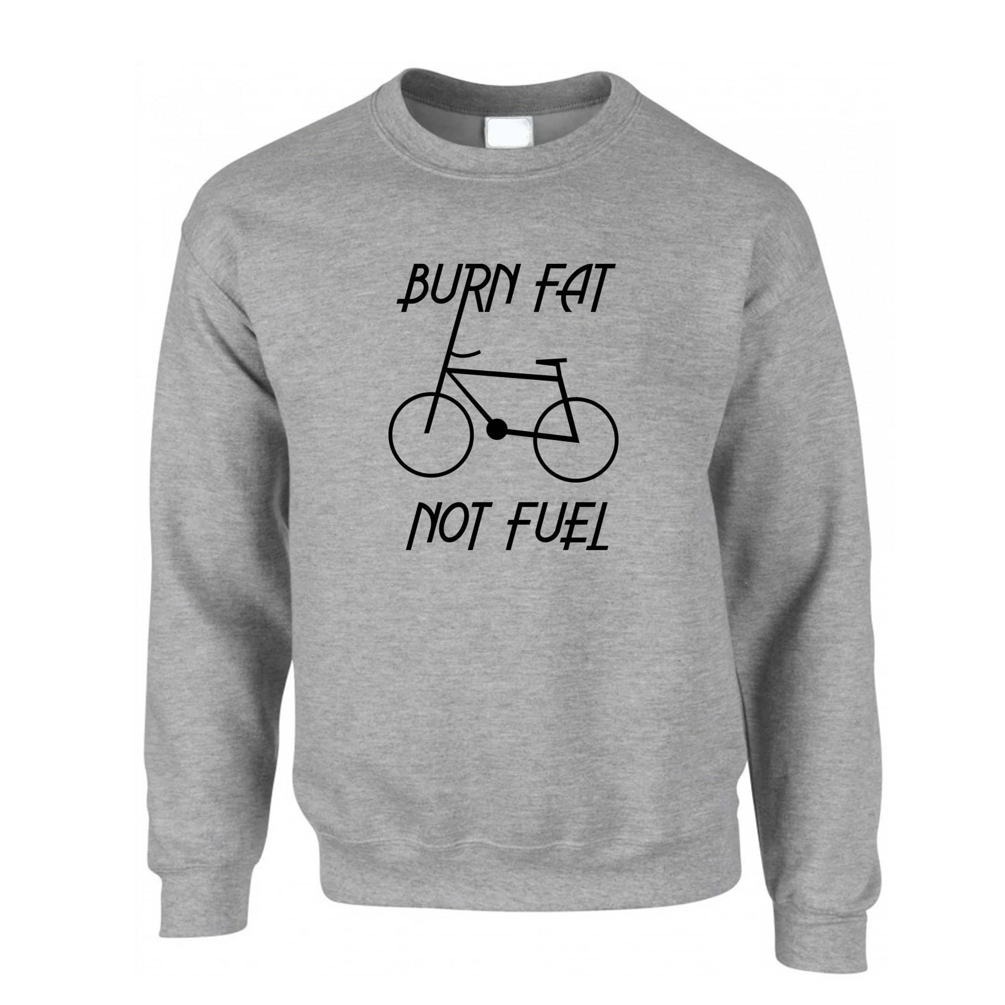 Eco Friendly Jumper Burn Fat, Not Fuel - Cycle Logo Sweatshirt Sweater
